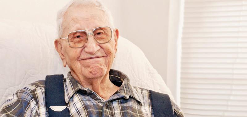 Elderly Man in Good Health